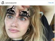 Cô gái nổi tiếng Instagram nhờ có cặp lông mày 'hoang dại'