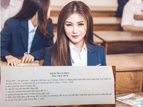 'Em gái mưa' của Hương Tràm xuất hiện trong đề kiểm tra môn Vật Lý lớp 10
