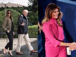 Trang phục hàng hiệu của phu nhân Tổng thống Trump trong chuyến công du-9
