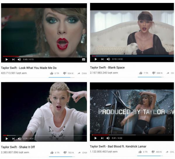 Katy sở hữu nhiều MV tỷ view nhưng có sánh ngang kỉ lục MV triệu like của Taylor?-1