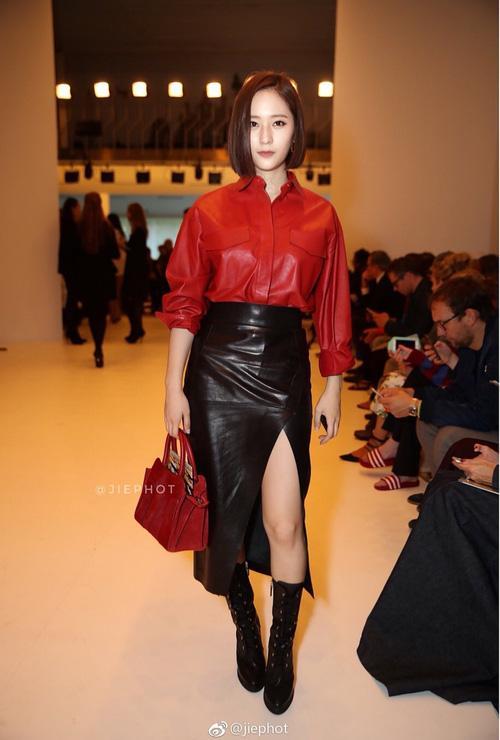 Quá bất ngờ: Krystal đột nhiên cắt phăng mái tóc dài, xuất hiện với tóc bob thời thượng tại Milan Fashion Week-4