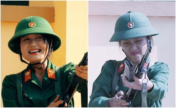 Nghe Hương Giang Idol hô hiệu lệnh trong quân đội, Mai Ngô cười như bị ai thọc lét-4
