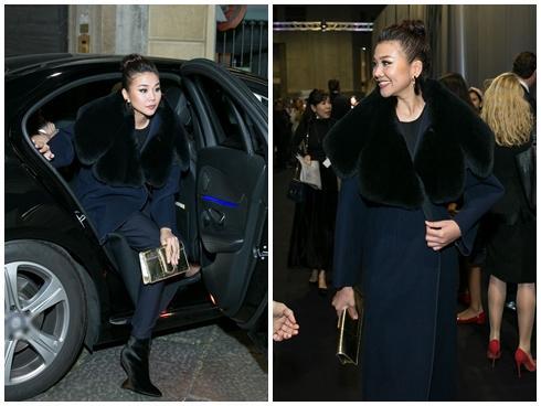 Không cần phô trương, Thanh Hằng chọn thời trang đẳng cấp ở Milan Fashion Week
