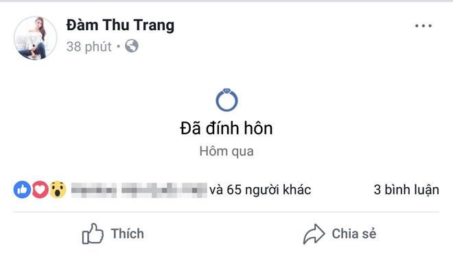 Cường Đô La và Đàm Thu Trang đồng loạt chia sẻ đã đính hôn-2