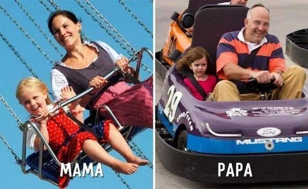 Ảnh hài: Sự khác biệt không tưởng giữa bố và mẹ khi trông con-3