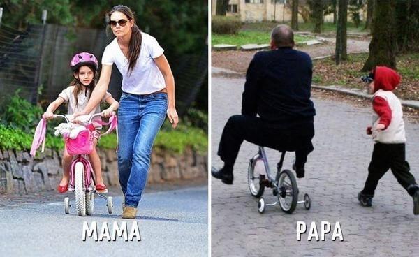 Ảnh hài: Sự khác biệt không tưởng giữa bố và mẹ khi trông con-5