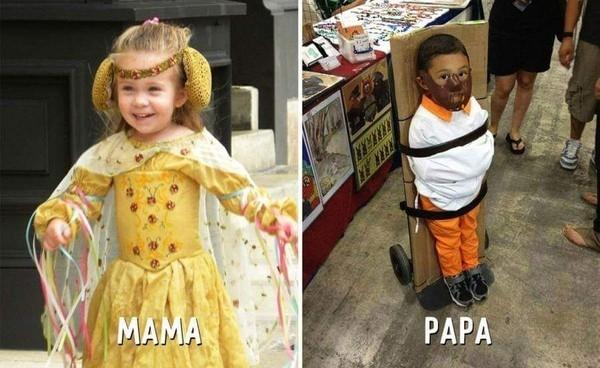 Ảnh hài: Sự khác biệt không tưởng giữa bố và mẹ khi trông con-8