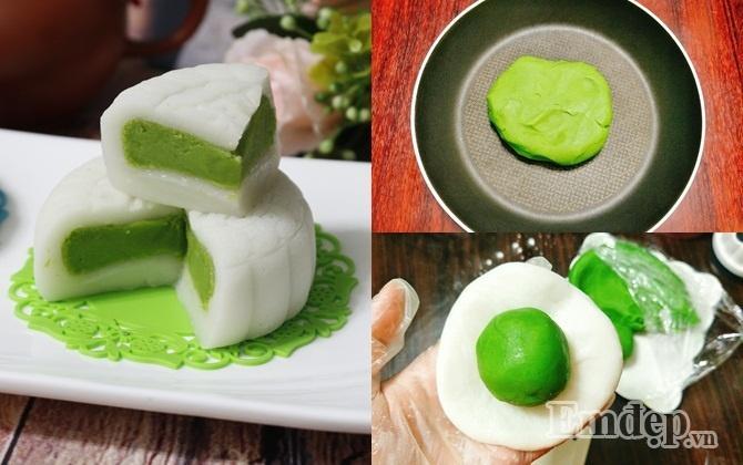 Cách làm bánh trung thu dẻo nhân trà xanh ngon chuẩn vị-1