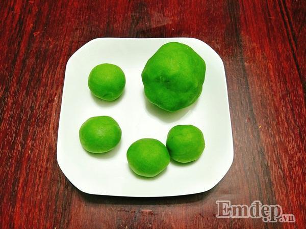 Cách làm bánh trung thu dẻo nhân trà xanh ngon chuẩn vị-5