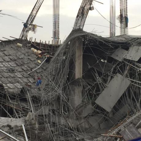 Hé lộ nguyên nhân trường mầm non đang xây bất ngờ đổ sập-1