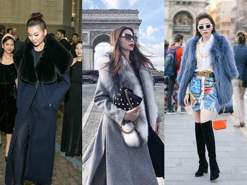 Sao Việt chuộng đồ lông khi đi fashion week