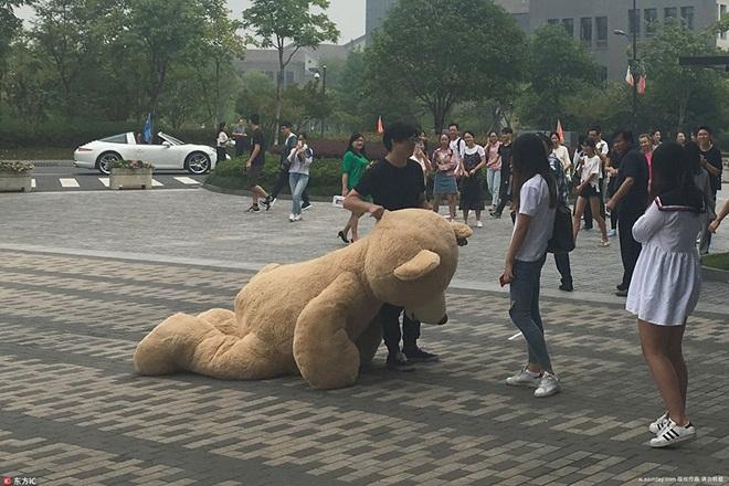 Mang xe 8 tỷ và gấu khổng lồ tỏ tình, chàng trai vẫn bị từ chối phũ-3