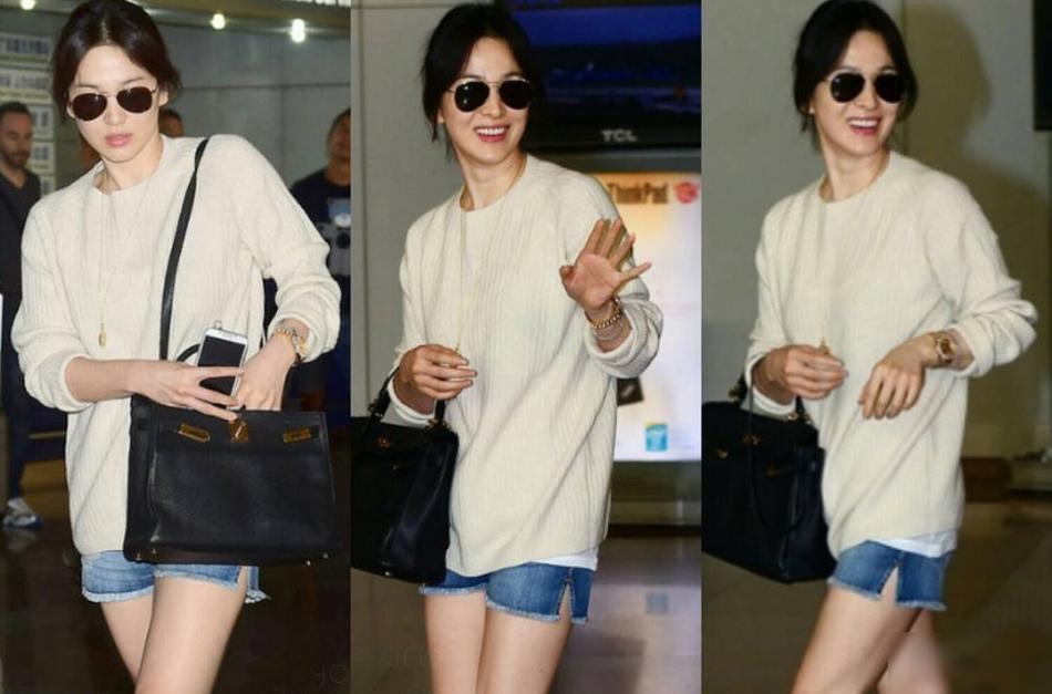 Hình ảnh Song Hye Kyo mặt bầu tròn trĩnh làm dấy lên nghi ngờ cô dâu đã có tin vui-7