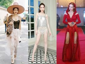 Minh Hằng diện đồ như mẫu game, Ngọc Trinh mặc váy có như không lọt top sao thảm họa