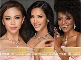 Phát hiện chiều cao thật của Hoàng Thùy, Mâu Thủy tại Hoa hậu Hoàn vũ Việt Nam 2017