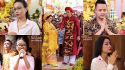 Dàn sao Việt mướt mồ hôi, đội nắng đến dâng hương đền thờ Tổ của Hoài Linh