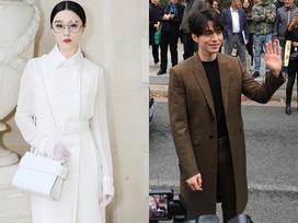 Hội ngộ Lee Dong Wook tại show Givenchy, Phạm Băng Băng khiến fan trầm trồ vì style quá lạ và đẳng cấp