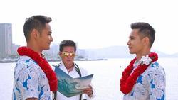 Lộ ảnh cưới siêu lãng mạn của Hồ Vĩnh Khoa và người tình đồng tính
