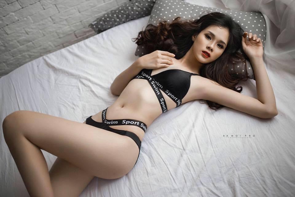 Nhan sắc đời thường xinh đẹp và nóng bỏng của thí sinh mê tiền nhất Hoa hậu Hoàn vũ Việt Nam-7