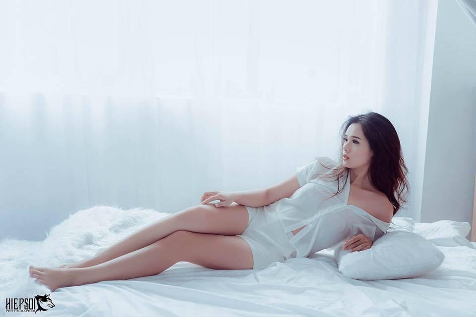 Nhan sắc đời thường xinh đẹp và nóng bỏng của thí sinh mê tiền nhất Hoa hậu Hoàn vũ Việt Nam-9