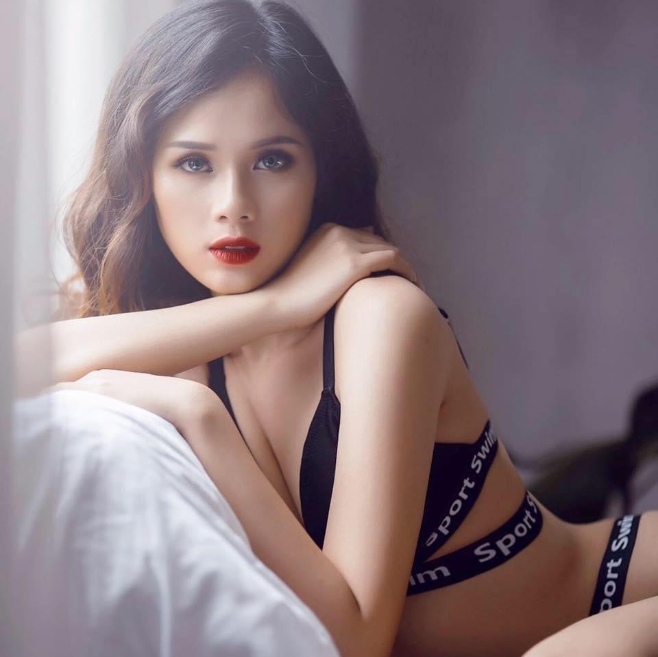 Nhan sắc đời thường xinh đẹp và nóng bỏng của thí sinh mê tiền nhất Hoa hậu Hoàn vũ Việt Nam-11