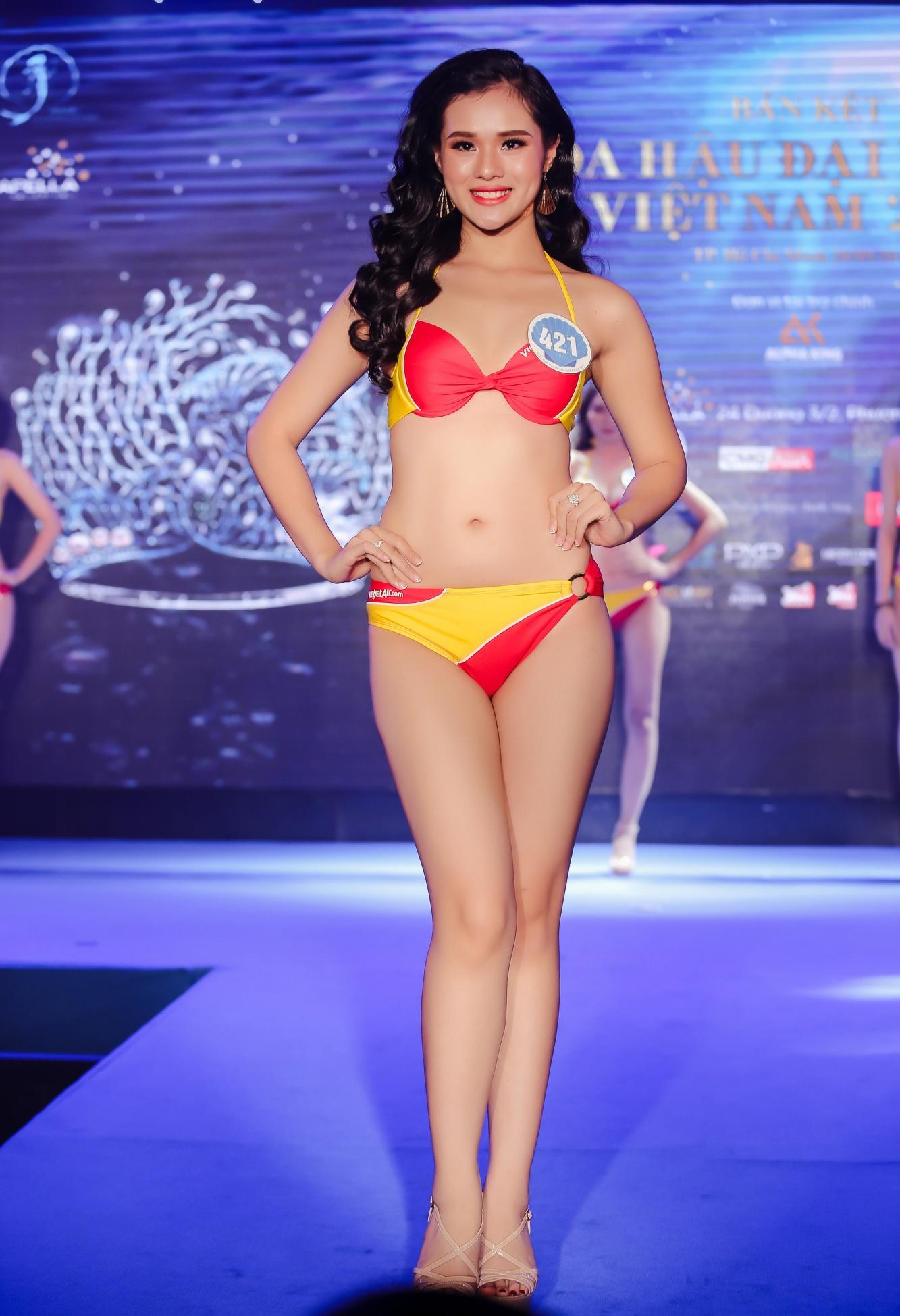 Vừa rời Hoa hậu Hoàn vũ, cô gái mê tiền tự tin khoe hình thể tại Hoa hậu Đại Dương 2017-2