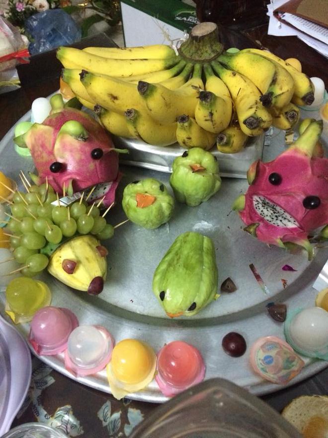 Cận kề Trung Thu, cư dân mạng thi nhau khoe mâm cỗ trái cây theo trường phái... kinh dị-2