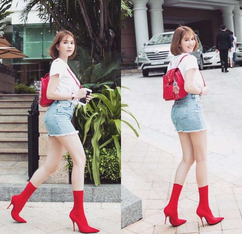 Hồ Ngọc Hà khoe chân dài miên man - Ngọc Trinh diện street style cưa sừng đón trung thu-6