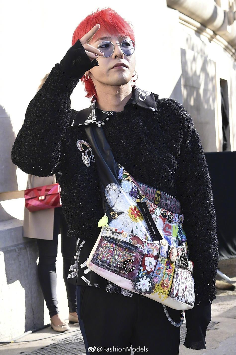 Park Shin Hye lộ mặt bóng dầu mập mạp - G-Dragon tóc đỏ chiếm sóng kinh đô thời trang Paris-3