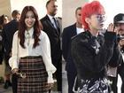 Park Shin Hye lộ mặt bóng dầu mập mạp - G-Dragon tóc đỏ 'chiếm sóng' kinh đô thời trang Paris