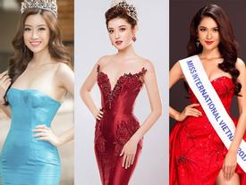 Trước khi gia nhập sàn đấu nhan sắc quốc tế, người đẹp Việt đồng loạt 'đọ' trình catwalk