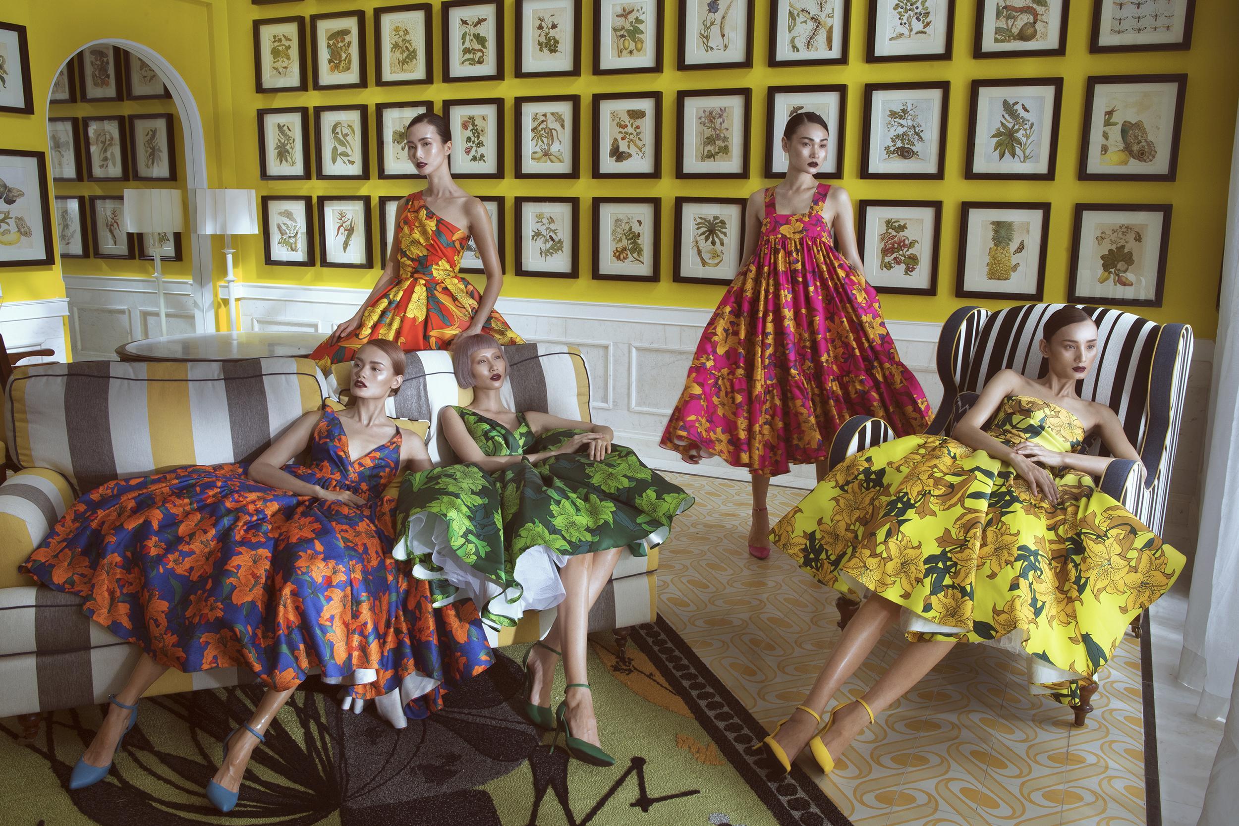 Dàn mẫu cuốn hút với váy áo sắc màu của Đỗ Mạnh Cường-2