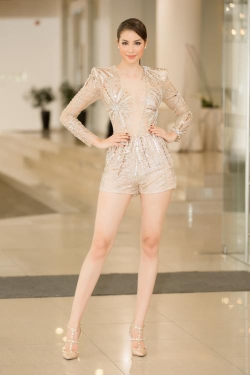 Diện chung thiết kế, Phạm Hương ngời ngời khí chất - Huyền My kém sắc ngày ra trận Miss Grand-5