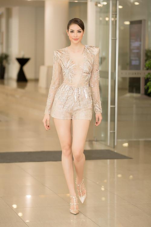 Diện chung thiết kế, Phạm Hương ngời ngời khí chất - Huyền My kém sắc ngày ra trận Miss Grand-6