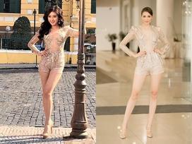 Diện chung thiết kế, Phạm Hương 'ngời ngời khí chất' - Huyền My kém sắc ngày ra trận Miss Grand
