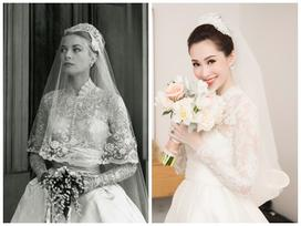 Bạn có nhận ra váy cưới của Hoa hậu Thu Thảo giống váy cưới của Công nương Grace Kelly đến bất ngờ?