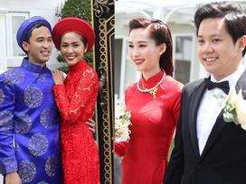 Áo dài ngày cưới của dàn người đẹp Tăng Thanh Hà, Thu Thảo, Thủy Tiên có gì khác lạ?