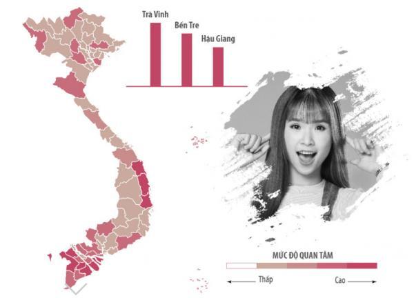 Sao Việt được tìm kiếm nhiều nhất ở khu vực nào?-6
