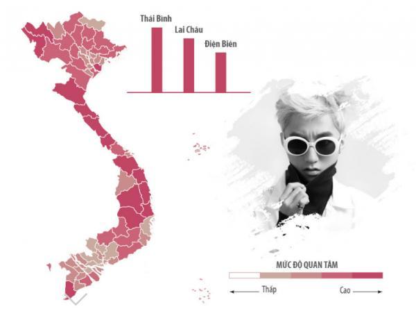 Sao Việt được tìm kiếm nhiều nhất ở khu vực nào?-1