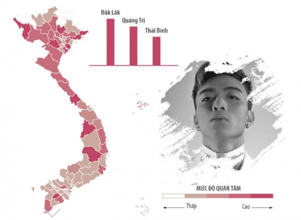 Sao Việt được tìm kiếm nhiều nhất ở khu vực nào?-5