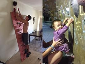 Cô bé 3 tuổi gây bất ngờ khi leo 20 m tường trong 4 phút