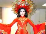Cận cảnh từng chi tiết trang phục dân tộc Huyền My sẽ trình diễn tại Miss Grand International 2017