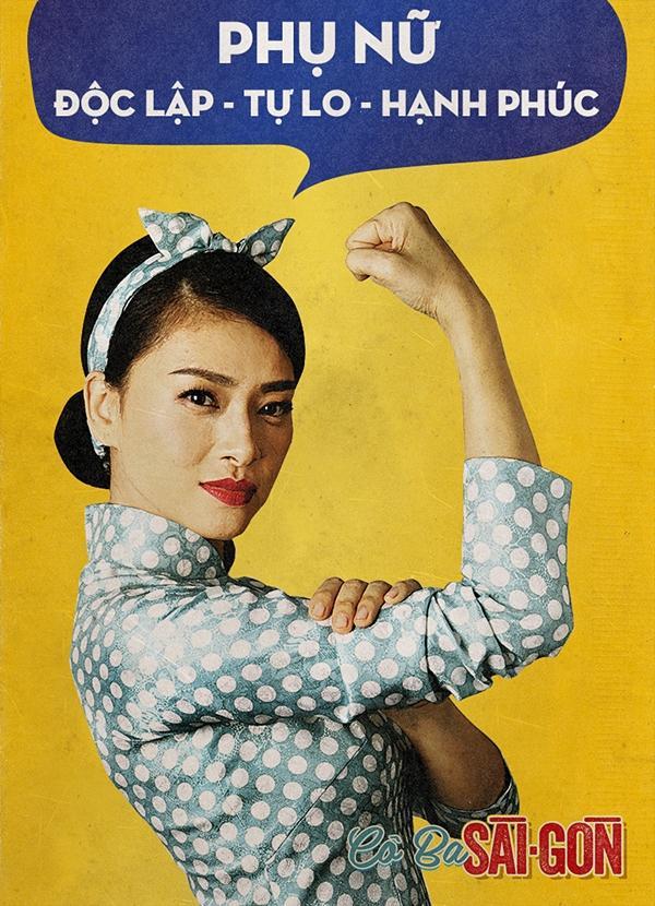 Dàn mỹ nhân Cô Ba Sài Gòn đồng loạt khoe cơ bắp ủng hộ nữ quyền-2