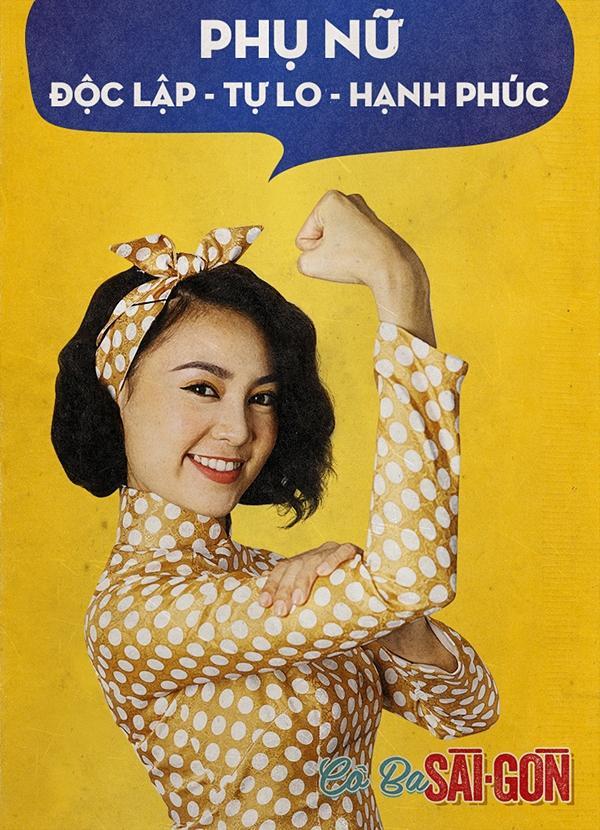 Dàn mỹ nhân Cô Ba Sài Gòn đồng loạt khoe cơ bắp ủng hộ nữ quyền-3