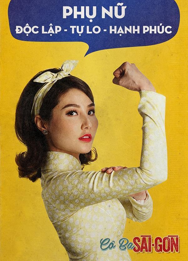 Dàn mỹ nhân Cô Ba Sài Gòn đồng loạt khoe cơ bắp ủng hộ nữ quyền-4