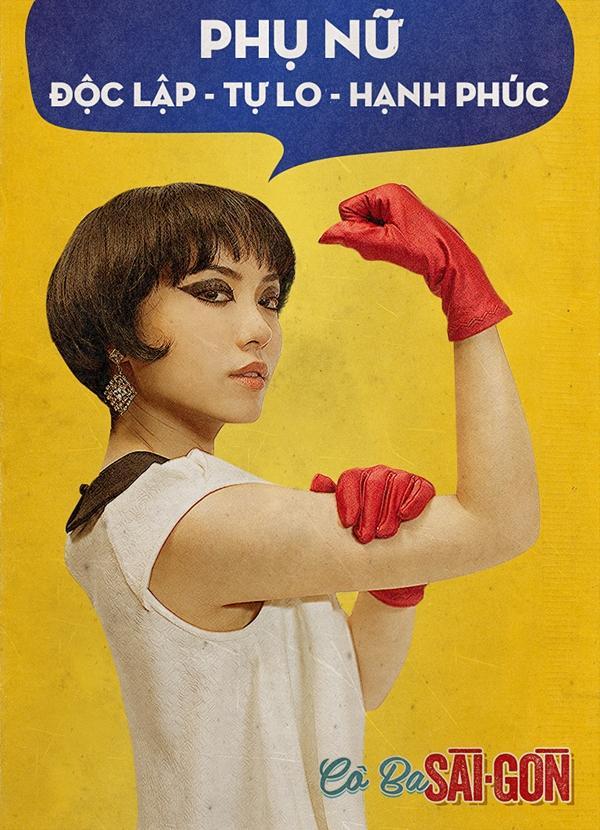 Dàn mỹ nhân Cô Ba Sài Gòn đồng loạt khoe cơ bắp ủng hộ nữ quyền-6