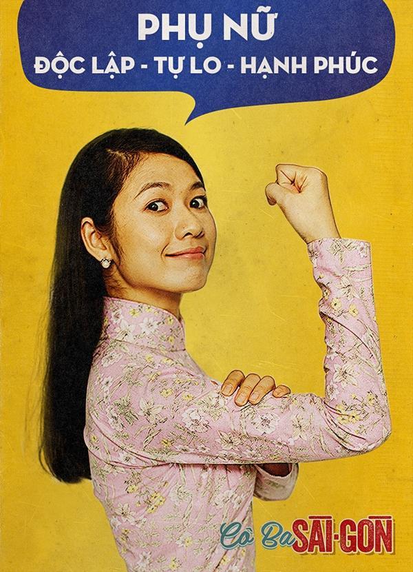 Dàn mỹ nhân Cô Ba Sài Gòn đồng loạt khoe cơ bắp ủng hộ nữ quyền-9