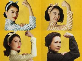 Dàn mỹ nhân 'Cô Ba Sài Gòn' đồng loạt khoe cơ bắp ủng hộ nữ quyền