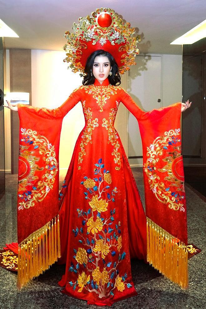 Cận cảnh từng chi tiết trang phục dân tộc Huyền My sẽ trình diễn tại Miss Grand International 2017-1