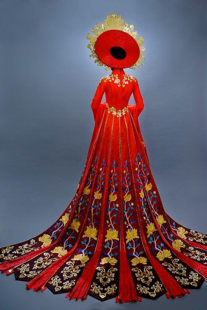 Cận cảnh từng chi tiết trang phục dân tộc Huyền My sẽ trình diễn tại Miss Grand International 2017-3